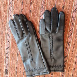 3/$20 Black Faux leather gloves with fur lining